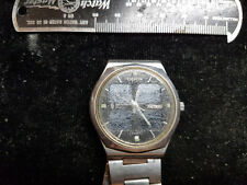 VINTAGE 1970'S CITIZEN CRYSTRON SOLAR CELL QUARTZ WATCH FOR REPAIR OR PARTS ONLY