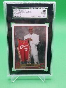 2003 Topps Lebron James #221 Rookie RC SGC 6 EX-NM Cavs