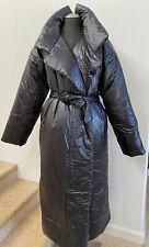 NWOT $800 NORMA KAMALI Black Sleeping Bag Coat Long Jacket, M/L