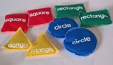 Learning Resources Shape Bean Bags 8 Pieces NEW ~ Rectangle Circle Triangle Sq.