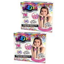 2x Loom Rubber Band Girls Bracelet Making Basic Set Latex W/700 Bands 6y