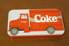 Coca Cola Truck Pencil Box Tin by The Tin Box Co 1987 COMES WITH ORIGINAL ERASER