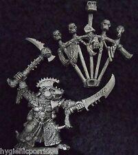 1993 Skaven Warlord queek headtaker caos ratmen Citadel Warhammer ejército Lord Gw
