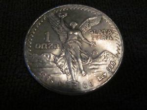 Toned 1985 1 Onza Mexico Libertad 1oz .999 Fine Silver Coin Banco De Mexico BU