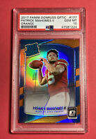 2017 Patrick Mahomes II Donruss Optic ORANGE Rookie Card RC #177 PSA 10 GEM MINT