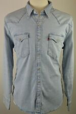 Men's Levi's Denim Blue Red Tab Western Cowboy Long Sleeved Shirt Large RRP £69