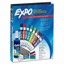 Expo Low Odor Dry Erase Chisel Amp Fine Tip Markers Eraser Amp Cleaner Set 80054 New