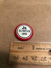 "Jr. Olympian 1956 Pin 1"" Red White Blue"