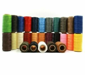 Durable Woven 1mm Flat Waxed Thread For DIY Leather Hand Stitching Sewing Crafts