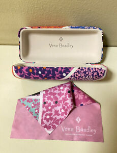 VERA BRADLEY MULTICOLOR FLORAL EYEGLASS HARD SHELL CASE