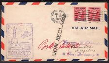 CANAL ZONE CZ US TO ARGENTINA FFC FIRST FLIGHT COVER 1929 CRISTOBAL - BS. AIRES
