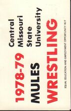 1978-79 Central Missouri State Wrestling Schedule 101917jh