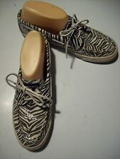 Sperry Top Sider Black White Zebra Sequins Deck Boat Loafers Shoes Size 9 cLOSeT