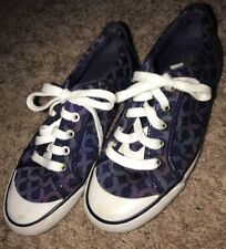 VGUC Coach Barrett Size 6B Laced Sneaker Shoes Purple C Hardly Worn