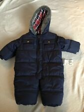 Mothercare Navy Blue Pramsuit Snowsuit 3-6 Months Baby Boy Clothes Brand New