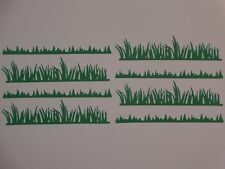 """8 grass borders 5"""" width die cuts greeting card die cut"""