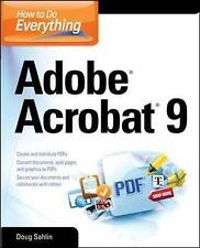 USED (GD) How to Do Everything: Adobe Acrobat 9 by Doug Sahlin