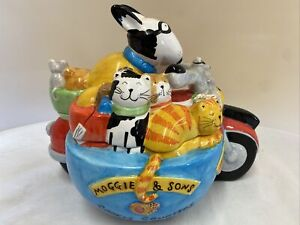 Vintage Rare Rayware Moggie & Sons Cookie Couriers Cookie Jar (D5)