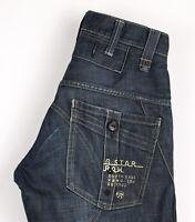 G-Star Brut Hommes Raff Elwood Slim Jeans Jambe Droite Taille W27 L32 ASZ407