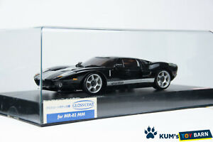 Kyosho MINI-Z Body Ford GT Black/Silver Stripe MZX209BKS Gloss Coat Very Rare!!
