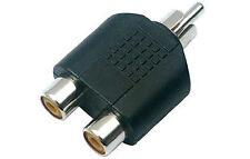 Adattatore Connettore Sdoppiatore 1 RCA Audio Maschio a 2 RCA Audio Femmina