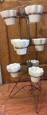 Retro Atomic Vintage Hall Imperial 10 Piece Plant Stand Flower Pot