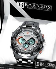1 giorno asta! SRP £ 515 b.k Grigio Orologio Cronografo DI LUSSO Inc Tag & EM BOSS Box 4