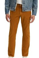 Levi's-502 Men's Pants Brown Size 33X32 Regular Taper Stretch Corduroy $69 313