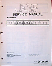 Yamaha JX35 Guitar Amplifier Original Service Manual, Schematics Parts List Book