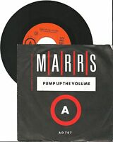 "Marrs, Pump up the volume, G/VG  7"" Single 999-591"