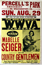 """Maybelle Sieger 1954 Appearance Poster. 17x26"""" Guaranteed Original!"""