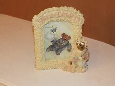 "Boyds Bear & Friends""True Love "" Wedding Picture Frame The Bear Stone # 27351"