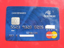 VINTAGE OLD CREDIT CARD: SUN TRUST MASTERCARD WORLD CASH REWARDS