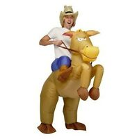 Inflatable Cowboy Costume Horse & Hat Fancy Dress Suit Stag Adult Party Outfit