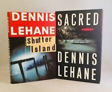 Dennis Lehane-2 Books-BOTH SIGNED!-TRUE First/1st Editions-Sacred-Shutter Island