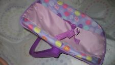 """Baby Doll Carrier Seat Purple with Design Fits Baby Dolls up to 12.5"""""""