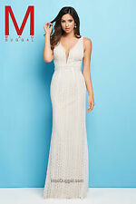 Authentic Mac Duggal 62309L Dress-Color:Ivory/Nude-Size: 14-Prom Dress-Reg $364