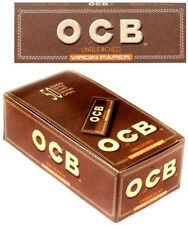 OCB BROWN UNBLEACHED VIRGIN SINGLE SMOKING CIGARETTE TOBACCO ROLLING PAPERS PACK
