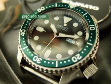 Dark Green Color Bezel Replacement Insert For 7S26 SCUBA Diver SKX 007 009 Parts