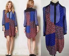 Anthropologie Foulard Shirt Dress By Moulinette Soeurs Size XS Silk Formal