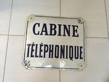 PLAQUE EMAILLEE CABINE TELEPHONIQUE BOMBEE ED JEAN