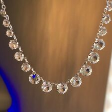 Antique Pools of Light Crystal Riviere Necklace Gold Filled Choker Belle Epoque