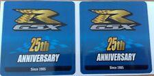LOT DE 2 AUTOCOLLANTS GSXR SUZUKI STICKERS MOTO STICKER GSX-R 25TH ANNIVERSARY