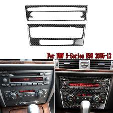 For BMW 3-Series E90/92/93 2005-12 Carbon Fiber Central CD Cover Trim Decoration