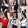 Career Women Chiffon Long Sleeve Slim Button Down Business Work Shirt Top Blouse
