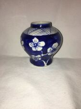 Antique Chinese Vase Floral Design China Porcelaine Blue and White Small
