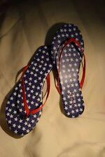 NEW Size 8 Lightweight Lauren Conrad Patroitic Red/White/Blue Flip Flop Sandals