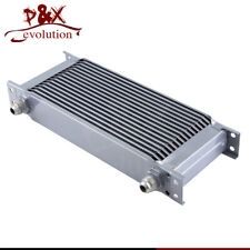 Silver painted Aluminum 16 Row  8AN Engine Oil Coolerb 3/4''UNF 16 AN8