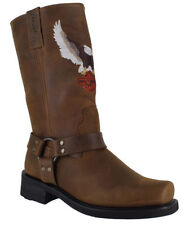 Men's Slip on Long, Riding 100% Leather Boots