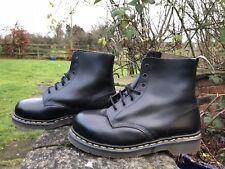 Dr Martens Original 7 Agujero Negro Botas Puntera De Acero Cabeza Rapada UK 8 EU 42